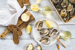 produits mer huîtres